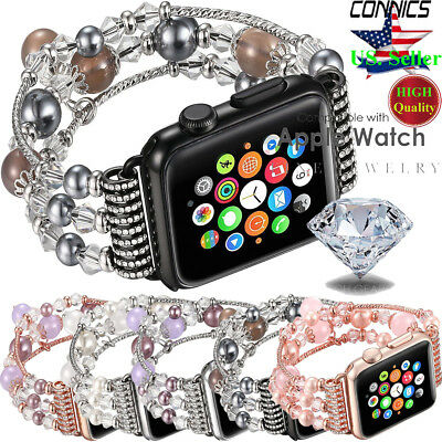 Fr Apple Watch Series 4 44/40MM Bling Agate Beads Strap Bracelet Band iWatch 1~4