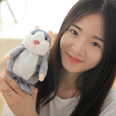 Talking Hamster Mouse Pet Plush Toy Cute Speak Sound Record for Child Kids Baby