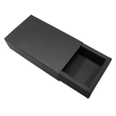 Black Kraft Paper Drawer Boxes Foldable Wedding Favor Party Gift Candy Storage