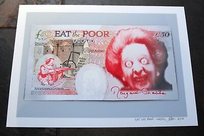 Eat the Poor - Open Edition A4 Print - Wefail - Brexit Thatcher