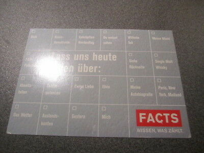 Werbeansichtskarte Facts