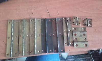 antique mantle clock back door hinges x10