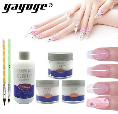 Acrylic Power Nail Extension Nail Art UV Gel Carving Pen Brush Liquid Powder DIY