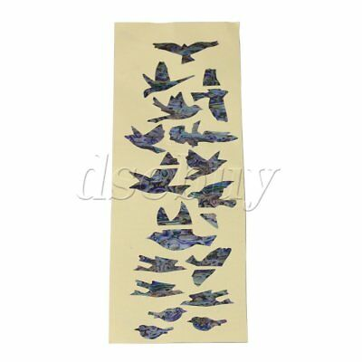 DIY Multicolor Birds Fretboard Markers Inlay Sticker Decal for Guitar Bass