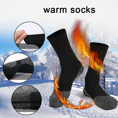 1 Pair Heat Keep Feet Long Sock Aluminized Fiber Insulation Below Socks