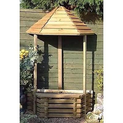 Flatback Garden Wishing Well & Fountain + Liner Pump Heads Garden Uk Seller