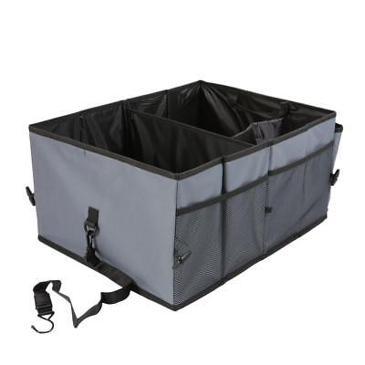 New Car Trunk Organizer Grey Storage with Straps by Drive Auto Products