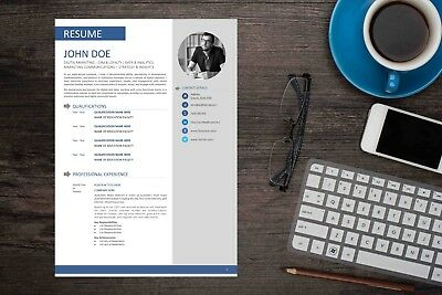 Clean MS Word Resume Template - Fully Editable with Instructions