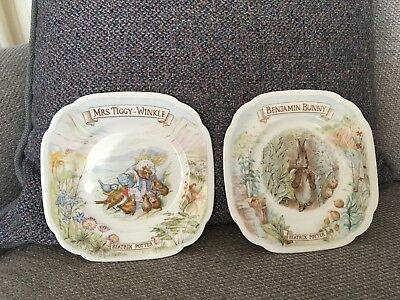 2 Royal Albert Beatrix Potter Plates.