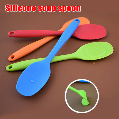 1 Pcs Silicone Spoon Cooking Tool Scoop Tableware Non-stick Kitchen Heat Resista