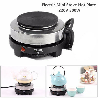 500W Portable Electric Stove Burner Hot Plate Kitchen Cooker Coffee Tea Heater