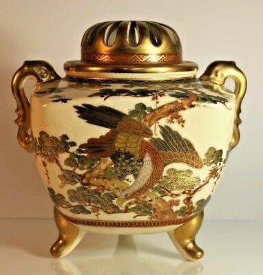 Exquisite Museum Quality Japanese Taisho Period Satsuma Koro Incense Burner