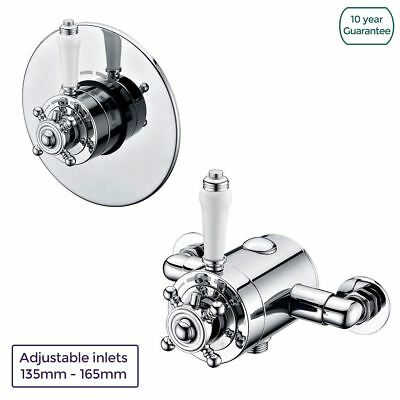 Albert Bathroom 1 Way Traditional Thermostatic Concealed/Exposed Shower Valve