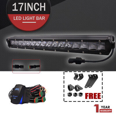 17inch CREE LED Light Bar Off Road Boat Fog for SUV ATV 4WD UTE Truck Jeep Ford