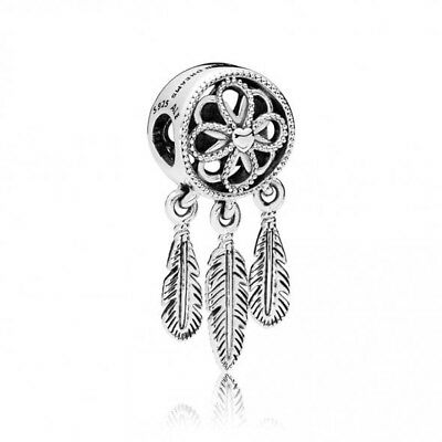 b75e18108 PANDORA GENUINE SILVER Spiritual Dream Catcher Dangle Charm S925 ALE ...