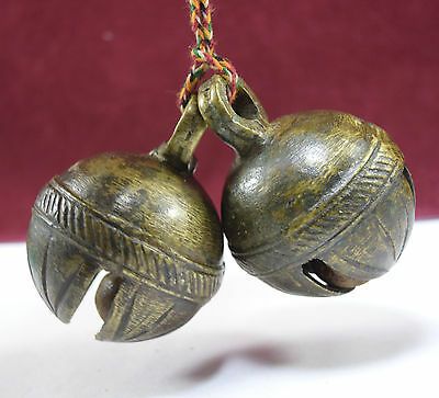 Indian Vintage Pair Of 2 Animal Ornament Bell Home Décor Collectible. G70-139 UK