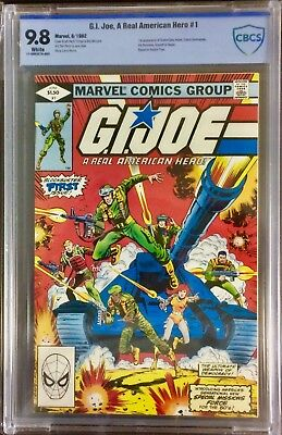 G.I. Joe, A Real American Hero #1 CBCS (not CGC) 9.8 Marvel 1982 White Pages