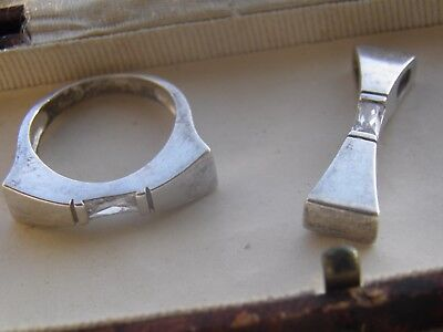 Sterling Silver Matching Ring and Pendant