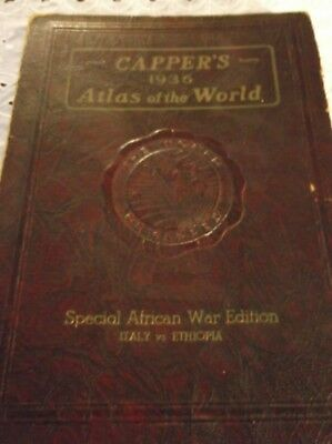 Book, Capper's 1936 Atlas of the World, Special African War Edition