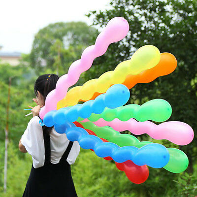 Twist Spiral Latex Balloon Wedding Kids Birthday Party Decor Toy Gift 100pcs