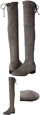 4b347a22287 Kaitlyn Pan Women s Microsuede Flat Heel Over The Knee Thigh High Boot 10.5  ...