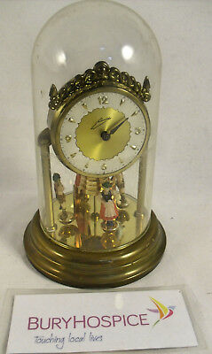 "Vintage Johnnid Clock Dancing Dutch West Germany Mantel Clock (6"") (WH_5834)"