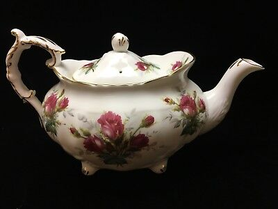 Hammersley Large Bone China Large Teapot With Victorian Flowers Roses