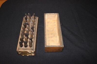 """Vintage Hoggson 1-8"""" Roman Letters Steel Stamps Set Punches Conn Usa"""