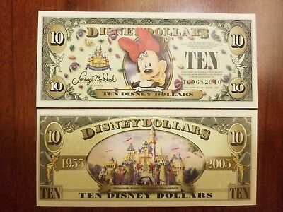 2005-T $10 Minnie Mouse Disney Dollar