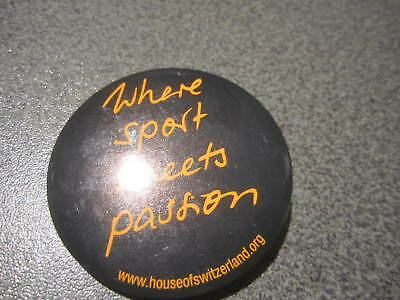 Button mit der Aufschrift:  Where sport meets passion
