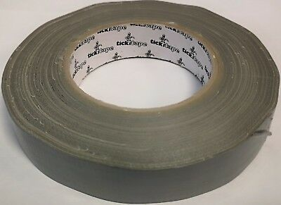 Bundle of 5 Tickitape gaffer tapes, Duct tape, 25mm x 50m, Silver