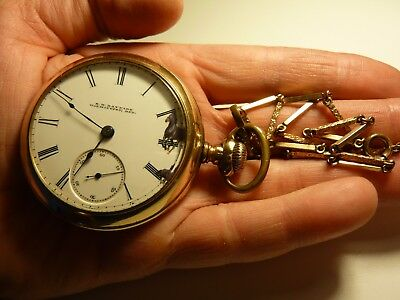 Elgin National Watch 18 Pocket Watch Private Label S.H. BAYNARD Wilmington Del.