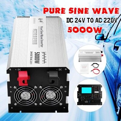 Convertisseur 24V 220V 230V 2500W 5000W pure sinus onduleur LCD Power Inverter