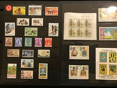 BOY SCOUTS & SCOUTS  ON STAMPS TOPIC Stamp Collection  Most Mint FREE SHIPPING