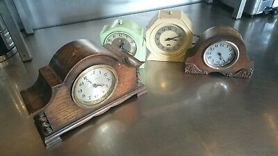 Mantle Piece Clocks Plus 2 Others For Spares Or Repair.