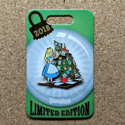 Alice in Wonderland Christmas Tree Pin 2018 Disney Disneyland LE 2000