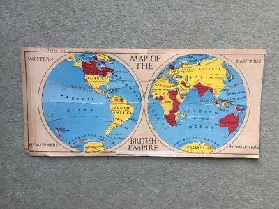 Early 20th Century Child's Map of the British Empire
