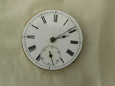 Antique  Pocket Watch Movement and Face spares or repair.