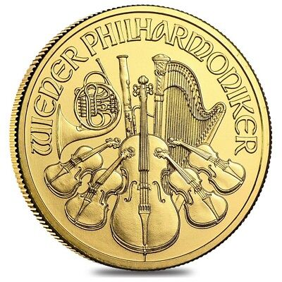 2019 1 oz Austrian Gold Philharmonic Coin BU