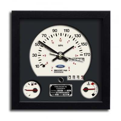 Chronos Speedometer Art Print Wall Clock Ford Escort RS Cosworth