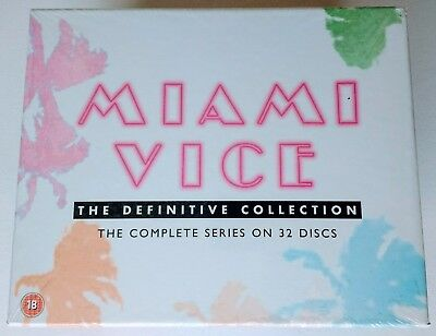 MIAMI VICE Definitive Collection DVD Box Set (Series 1-5) Part-Sealed/Near-Mint