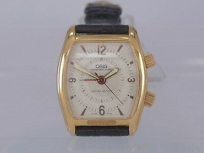RaRe New-Old-Stock Oris 18K Rose Gold manual alarm watch limited 250 pcs in box