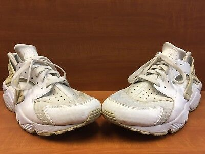 release date 3865f ab971 Nike Air Huarache Triple White Pure Platinum 318429-111 Size 12 Running  Shoes