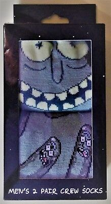 RICK and MORTY PICKLE RICK MEN SIZE 6-13 CREW SOCKS  HYPOCOMIX 2 PAIR NEW