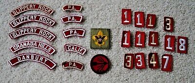 25 Vintage Boy Scout Patch Lot - Group 9 Numbers, Council Patches