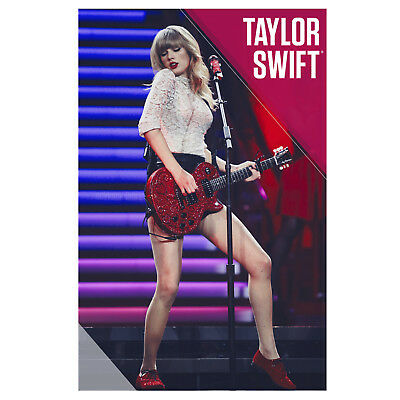 """Taylor Swift Collectible: 2013 Red Guitar Performance on Red Tour 22x34"""" Poster"""