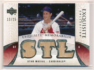 STAN MUSIAL 2006 Exquisite Collection Memorabilia GOLD TRIPLE BAT /25 CARDINALS