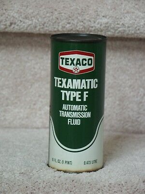 Vtg 1974 FORD PINT TEXACO TEXAMATIC TYPE F Automatic Transmission Fluid  Can