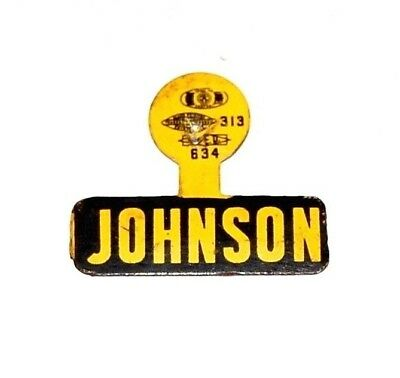 1964 LBJ LYNDON B. JOHNSON campaign TAB political pinback button presidential