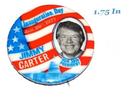 1977 JIMMY CARTER INAUGURATION campaign pin pinback button political president